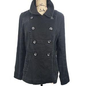 H&M Black Demin Double Breasted Blazer